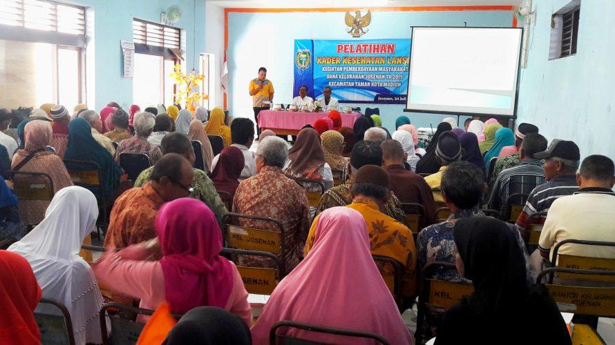 Pelatihan Kader Kesehatan Lansia Kegiatan Pemberdayaan Masyarakat Dana Kelurahan Josenan Tahun Anggaran 2019 Kecamatan Taman Kota Madiun