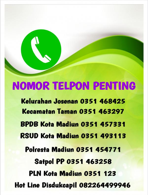 NOMOR TELPON PENTING